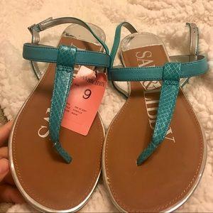 Sam & Libby kamikaze sandal - turquoise NWT